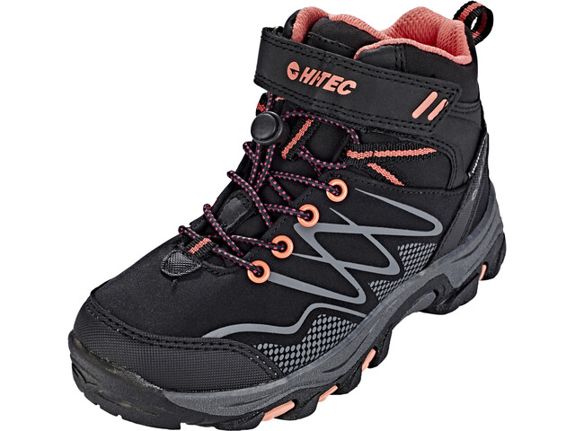 Hi-Tec Blackout Mid WP - Calzado Niños - rosa/negro